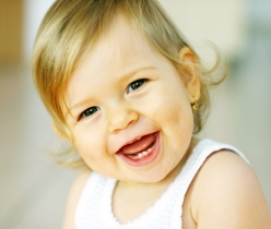 young girl toddler smiling